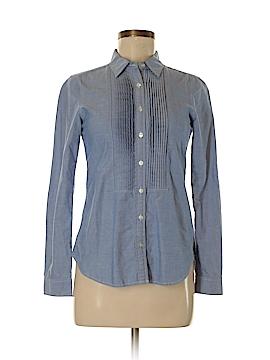 Oxford Long Sleeve Button-Down Shirt Size M