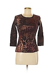Gloria Vanderbilt Women 3/4 Sleeve T-Shirt Size S