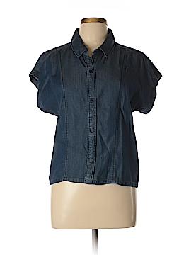 ABS Allen Schwartz Short Sleeve Button-Down Shirt Size L