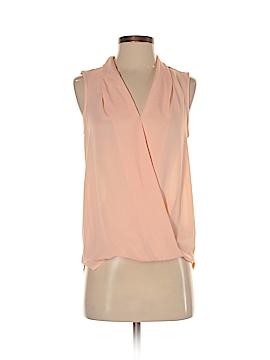 Pink Rose Sleeveless Blouse Size XS