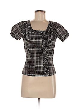 Gracia Fashion Short Sleeve Button-Down Shirt Size S