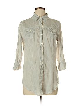 Magazine Long Sleeve Button-Down Shirt Size M