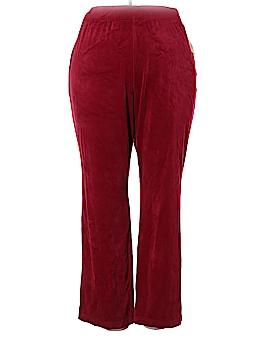 Karen Scott Velour Pants Size 2X (Plus)