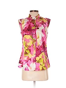 Eccoci Sleeveless Button-Down Shirt Size 4