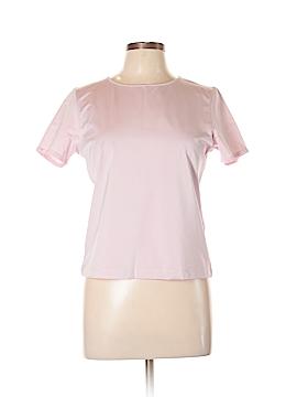 Linda Allard Ellen Tracy Short Sleeve Silk Top Size L (Petite)