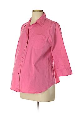 Liz Lange Maternity 3/4 Sleeve Button-Down Shirt Size L (Maternity)