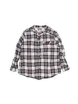 Zara Long Sleeve Button-Down Shirt Size 18-24 mo