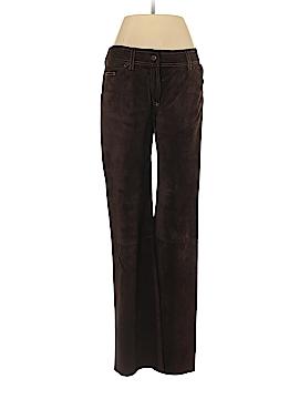 Dolce & Gabbana Leather Pants Size 42 (IT)