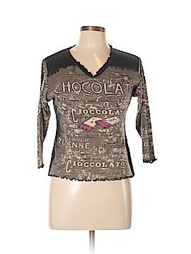 Moda International 3/4 Sleeve Top Size L