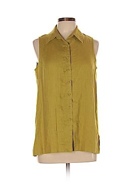 Isda & Co Sleeveless Button-Down Shirt Size L