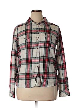 H&M L.O.G.G. Long Sleeve Button-Down Shirt Size 14
