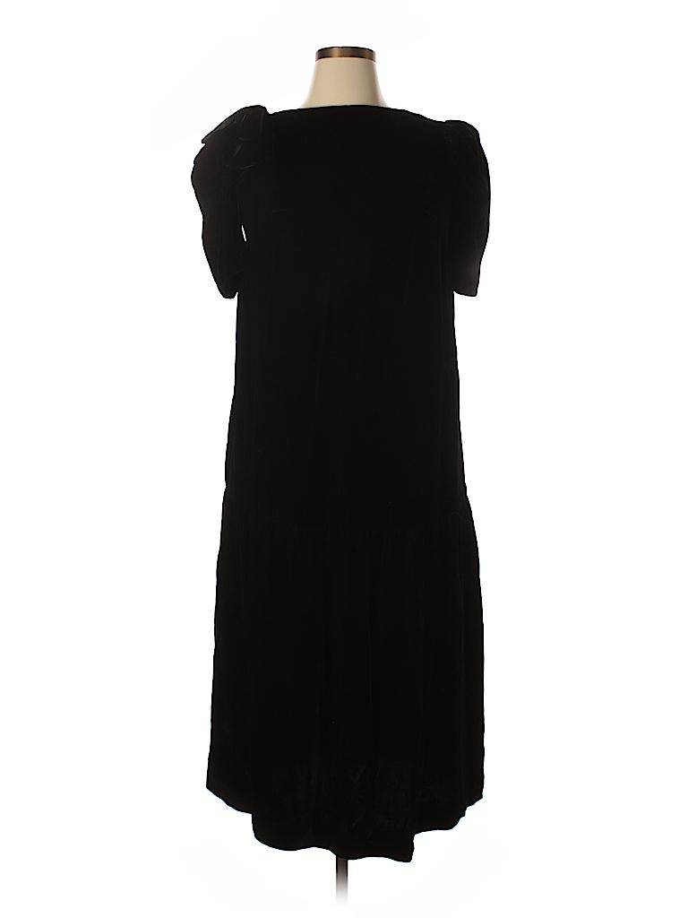 8d0b08c1bd35e Saks Fifth Avenue 100% Rayon Solid Black Cocktail Dress Size 20 ...