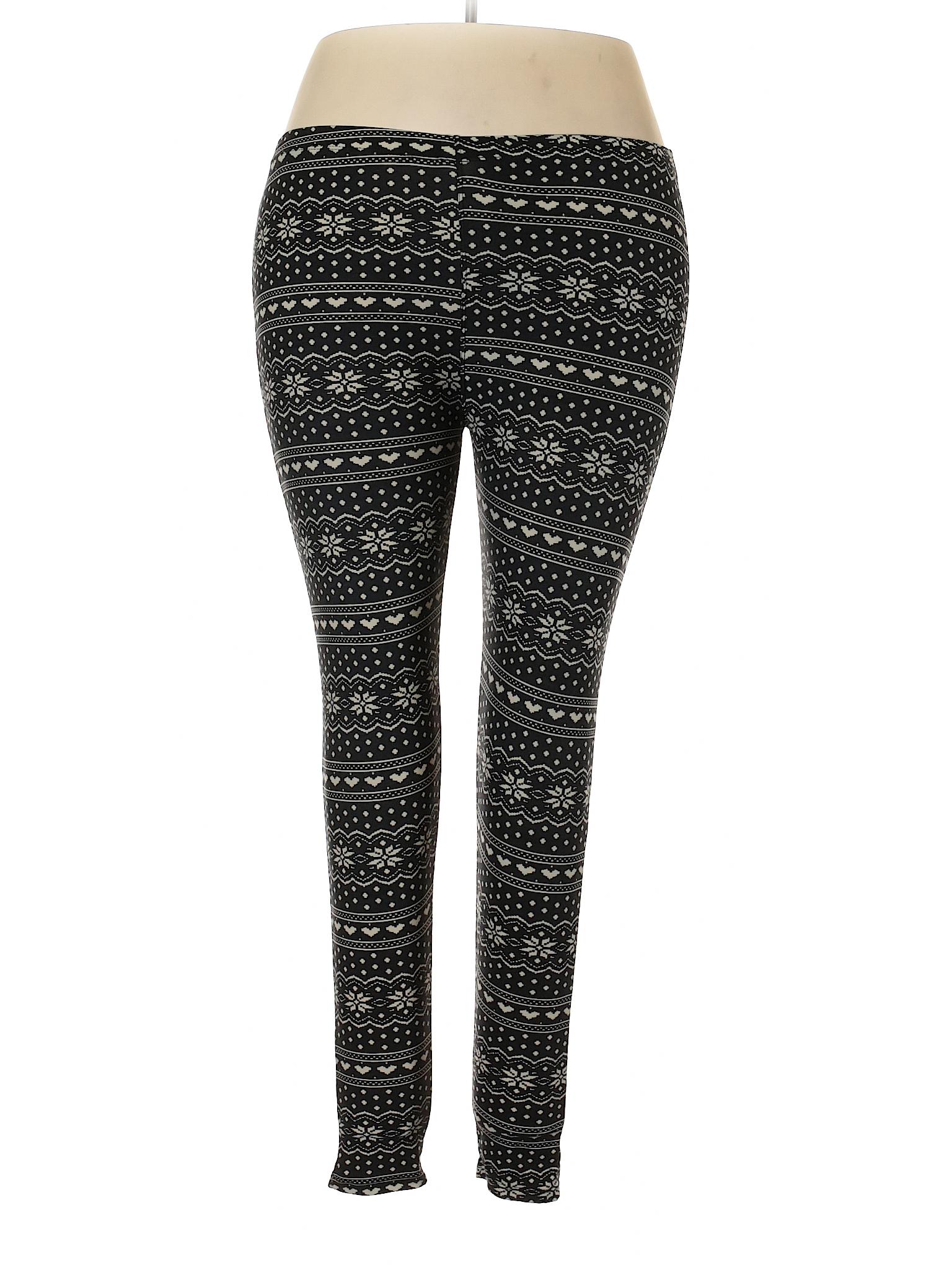 d2bf0c8229ef9e Merona Print Black Leggings Size Plus Size - 41% off | thredUP