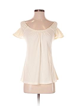 Velvet Short Sleeve Top Size P (Petite)