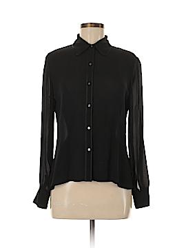 Alfani Long Sleeve Silk Top Size 8