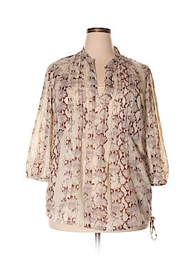 CALVIN KLEIN JEANS 3/4 Sleeve Blouse Size 0X (Plus)