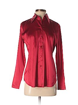 Saks Fifth Avenue Long Sleeve Silk Top Size 4