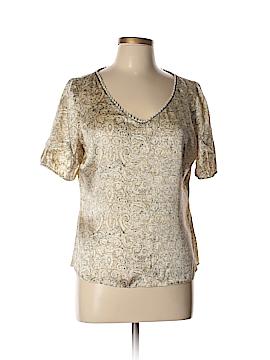T Tahari Short Sleeve Silk Top Size L