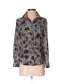 Robert Graham Long Sleeve Silk Top Size XS