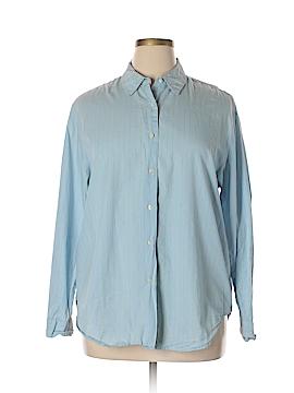 Crossroads Long Sleeve Button-Down Shirt Size XL