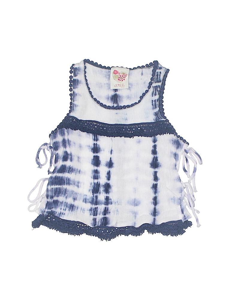 530b11c33c74 Kiddo by Katie 100% Rayon Tie Dye Dark Blue Sleeveless Blouse Size S ...