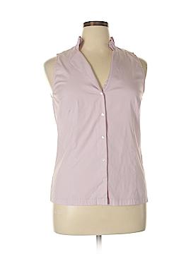 Ann Taylor Sleeveless Button-Down Shirt Size 14