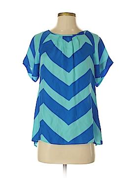 Britt Ryan Short Sleeve Silk Top Size S