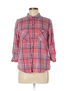Seven7 Long Sleeve Button-Down Shirt Size M