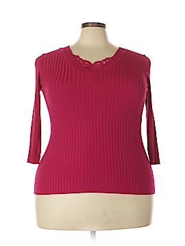 Roz & Ali Pullover Sweater Size 1X (Plus)