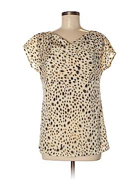 Ann Taylor Short Sleeve Silk Top Size 6
