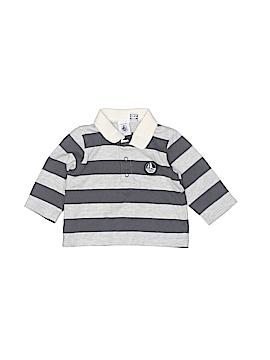 Petit Bateau Long Sleeve Polo Size 6 mo