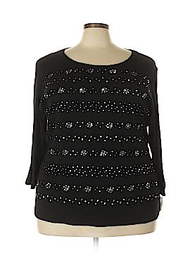 Karen Scott 3/4 Sleeve Top Size 3X (Plus)