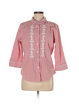 Denim Co Long Sleeve Button-Down Shirt Size L