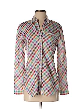 Lafayette 148 New York Long Sleeve Button-Down Shirt Size P