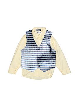 Happy Fella Long Sleeve Button-Down Shirt Size 5