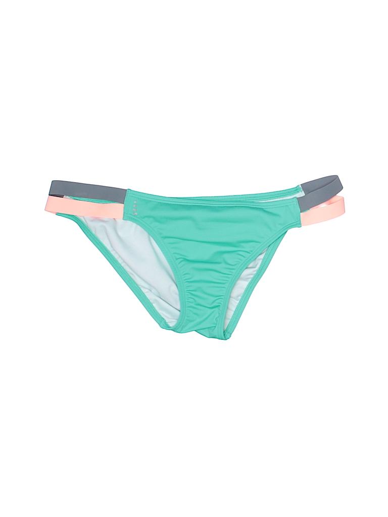 Lands End Color Block Green Swimsuit Bottoms Size 8 81 Off Thredup