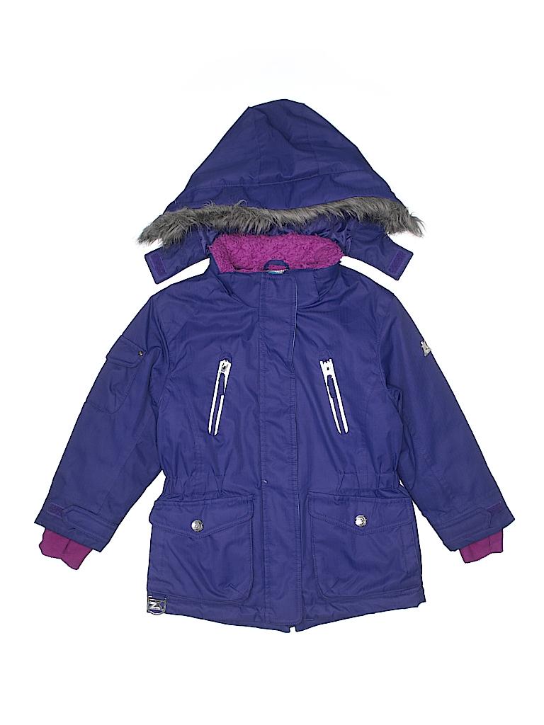 81500b485 ZeroXposur 100% Polyester Solid Dark Purple Snow Jacket Size 6 - 79 ...