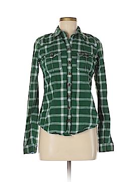 Hollister Long Sleeve Button-Down Shirt Size M