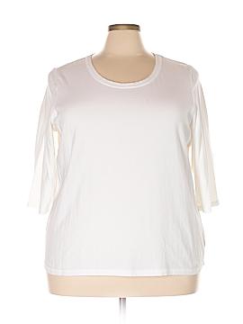 D&Co. 3/4 Sleeve T-Shirt Size 2X (Plus)