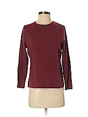 Relativity Women Long Sleeve T-Shirt Size M (Petite)