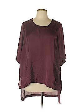 Melissa McCarthy Seven7 3/4 Sleeve Button-Down Shirt Size 0X (Plus)