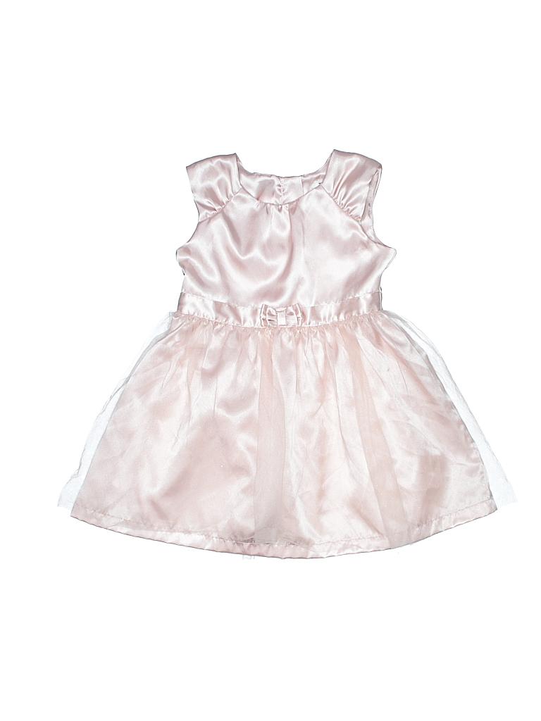 59a78af5aff49 Carter's 100% Polyester Solid Light Pink Special Occasion Dress Size ...