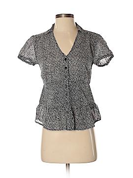Isaac Mizrahi Short Sleeve Button-Down Shirt Size S