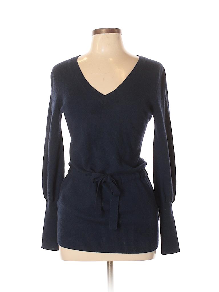 f3b5162abc4 Antonio Melani 100% Cashmere Solid Dark Blue Cashmere Pullover ...
