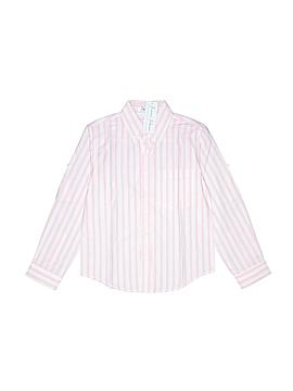 Jeanine Johnsen Long Sleeve Button-Down Shirt Size 8