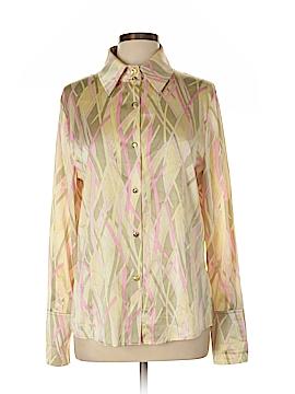 St. John Long Sleeve Silk Top Size 12