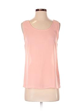 Peach Love Cream California Sleeveless Blouse Size S