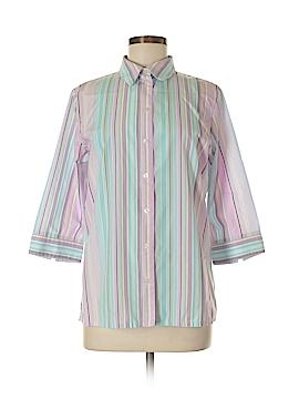 Alia 3/4 Sleeve Button-Down Shirt Size 8