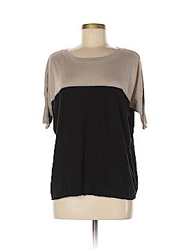 Black Saks Fifth Avenue Silk Pullover Sweater Size M