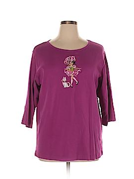 Bob Mackie 3/4 Sleeve T-Shirt Size 1X (Plus)